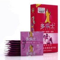 多乐士避孕套,12只(超薄玫瑰)