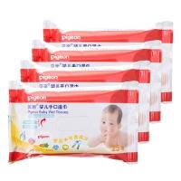 贝亲-婴儿手口湿巾25片装4连包,PL138,促销优惠装