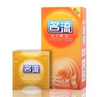 天然膠乳橡膠避孕套活力螺紋,10只