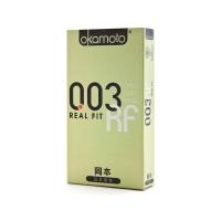 岡本天然膠乳橡膠避孕套,6只003黃金型