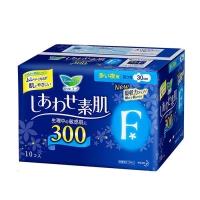 花王乐而雅棉柔亲肤F系列 夜用多量护翼型卫生巾,30cm*10片-蓝