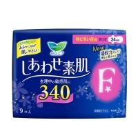 花王乐而雅棉柔亲肤F系列 夜用特多量护翼型卫生巾,34cm*9片-粉