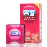 名流天然胶乳橡胶避孕套,柔滑丝薄10只