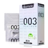 冈本天然胶乳橡胶避孕套,10只003白金型
