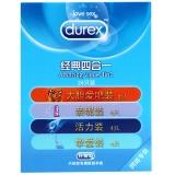 杜蕾斯天然胶乳橡胶避孕套,24片经典四合一 薄型中号