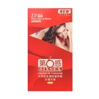 天然胶乳橡胶避孕套(第六感),纤薄平滑12只