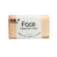 洁柔Face天然无香150抽抽取式纸面巾,200mm*192mm*150抽(三层)JR100-05