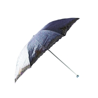 天堂伞 三折超轻阳伞,33053E繁华似锦