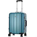 爱华仕(OIWAS)飞机轮拉杆箱6193 铝框海关密码锁行李箱 商务出差旅行硬箱 24英寸孔雀绿