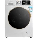 美的(Midea)10公斤洗烘一体 变频滚筒洗衣机 微联智能 热风旋流烘干 京东微联控制 白色 MD100V71WDX