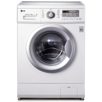 LG WD-N12430D 6公斤直驱DD变频滚筒洗衣机 44CM超薄 智能手洗模式 高温洗涤(白色)
