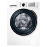 三星(SAMSUNG)8公斤全自动滚筒洗衣机 智能变频  快速洗 钻石型内筒 泡泡洗WW80J6413CW(白)