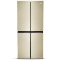 奥马(Homa) BCD-406DEK 406升 电脑控温 冷藏定期除霜 玻璃面板 十字对开门冰箱 金色