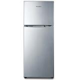创维(Skyworth)BCD-138 138升双门冰箱 金属拉丝面板 冷藏冷冻 家用经济型小冰箱(炫银)