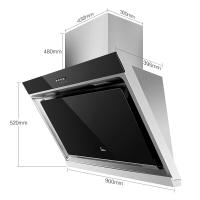 美的(Midea)大尺寸 大面板側吸式抽油煙機 CXW-180-DJ118