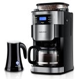 英国摩飞(Morphyrichards)MR1025咖啡机 全自动磨豆 家用办公室咖啡壶