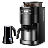 英国摩飞(Morphyrichards)MR1028咖啡机全自动磨豆家用办公咖啡机 双层保温咖啡壶 豆粉两用