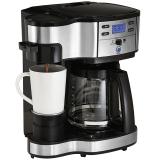 汉美驰(Hamilton Beach)咖啡机 美式免滤纸家用 办公多功能 预约 双模式单杯 咖啡壶 49980-CN