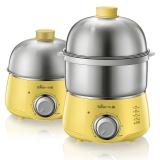 小熊(Bear)煮蛋器 家用早餐機雙層不銹鋼定時防干燒斷電蒸蛋器ZDQ-A14X2