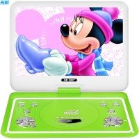 先科(SAST)FL-128D 便携式移动DVD播放机(巧虎dvd影碟机 老人唱戏看戏视频机 光盘usb播放器10.1英寸)绿色
