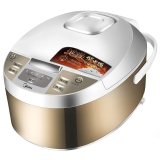 美的(Midea)電飯煲 金屬拉絲機身 10小時預約 黃晶內膽4L電飯鍋MB-WFD4015