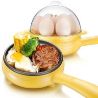 小熊(Bear) 煎蛋器蒸蛋器 迷你不沾锅电煎蛋锅 煎蛋机多功能煎饼煎煮蛋器 JDQ-C3011