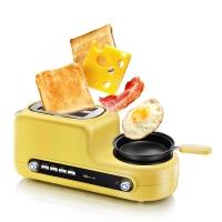 小熊(bear)烤面包机 多功能多士炉家用2片早餐机吐司机 煮蛋器蒸蛋煎蛋DSL-A02Z1