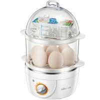 小熊(Bear)煮蛋器 家用蒸蛋器早餐机旋钮可定时煮蛋机单双层自动断电送不304锈钢蒸碗ZDQ-2151