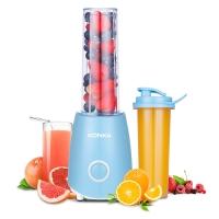 康佳(KONKA)料理机 便携式随行杯双杯婴儿辅食搅拌果汁奶昔可榨汁 KJ-JF302(B)