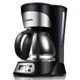 东菱(Donlim)DL-KF300 黑色滴漏式咖啡机 750ml大容量煮茶器
