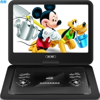 先科(SAST)32W 便携式移动DVD播放机(巧虎dvd影碟机cd 老人唱戏看戏机视频机 硬盘光盘usb播放器)黑色