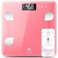 香山 电子秤 精准体重称重 智能家用健康秤重 JD+京东微联 蓝牙App控制 EF865i(粉色)