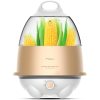 德尔玛(Deerma)煮蛋器多功能双层蒸蛋旋钮控温ZD012