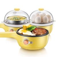 小熊(Bear) 煎蛋器蒸蛋器 不沾锅电煎蛋锅 煎蛋机多功能旋钮式早餐机煎饼煎煮蛋器 JDQ-A04D1