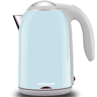 格来德(Grelide)电热水壶 304不锈钢烧水壶 PTC保温双层防烫 D1701K1 1.7L容量电水壶(淡蓝)