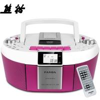 熊猫(PANDA)CD-820 CD机 收录机 复读机 DVD播放机 胎教机 录音机 收音机 插卡MP3收录机音响(红色)