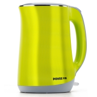 奔腾(POVOS)电热水壶电水壶茶壶茶具304不锈钢双层防烫烧水壶1.7L S1756