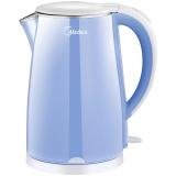 美的(Midea)电水壶WHJ1705C 304不锈钢电热水壶 1.7L容量 双层防烫烧水壶(时尚青春范)