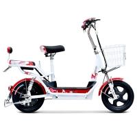 小刀电动车 48V简约新款电动自行车助力滑板电瓶车成人踏板车 乐途 大红