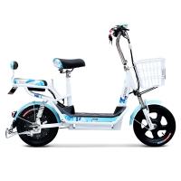 小刀电动车 48V简约新款电动自行车助力滑板电瓶车成人踏板车 乐途 冰蓝