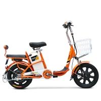 小刀电动车 TDR-1602Z 新款成人助力电动车  电动自行车 36V人气脚踏代步车 心语果粒橙