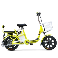 小刀电动车 TDR-1602Z 新款成人助力电动车 电动自行车 36V人气脚踏代步车 心语靓亚黄