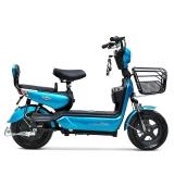 小刀电动车 2017新款电动自行车踏板车代步车电瓶车 H7 金属蓝绿 48V12AH