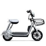 小刀电动车 48V酷炫电动自行车 舒适碟刹真空胎踏板车 优比 镀铬银