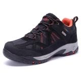 TFO 登山鞋 运动徒步低帮透气舒适高弹减震登山鞋842543 男款黑色/暗橙色  39