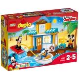 乐高 玩具 得宝 DUPLO 2岁-5岁 米奇和朋友们的海滩别墅 10827 积木LEGO