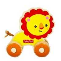 费雪 Fisher Price 益智早教玩具 小小动物推车-小小狮子FP1004