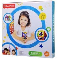 费雪(Fisher Price)玩具 磁力构建片 百变提拉拼插模型积木磁性玩具 16片精灵体验装2007