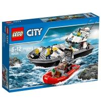 乐高 城市系列 5岁-12岁 警用巡逻艇 60129 儿童 积木 玩具LEGO