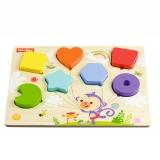 费雪(Fisher Price)积木拼图玩具 形状颜色认知 FP7004